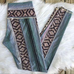 Teeki Hot Pants Aztec Full Length Yoga Leggings